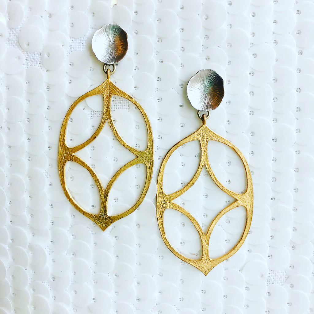 Gold and Silver Praise Earrings