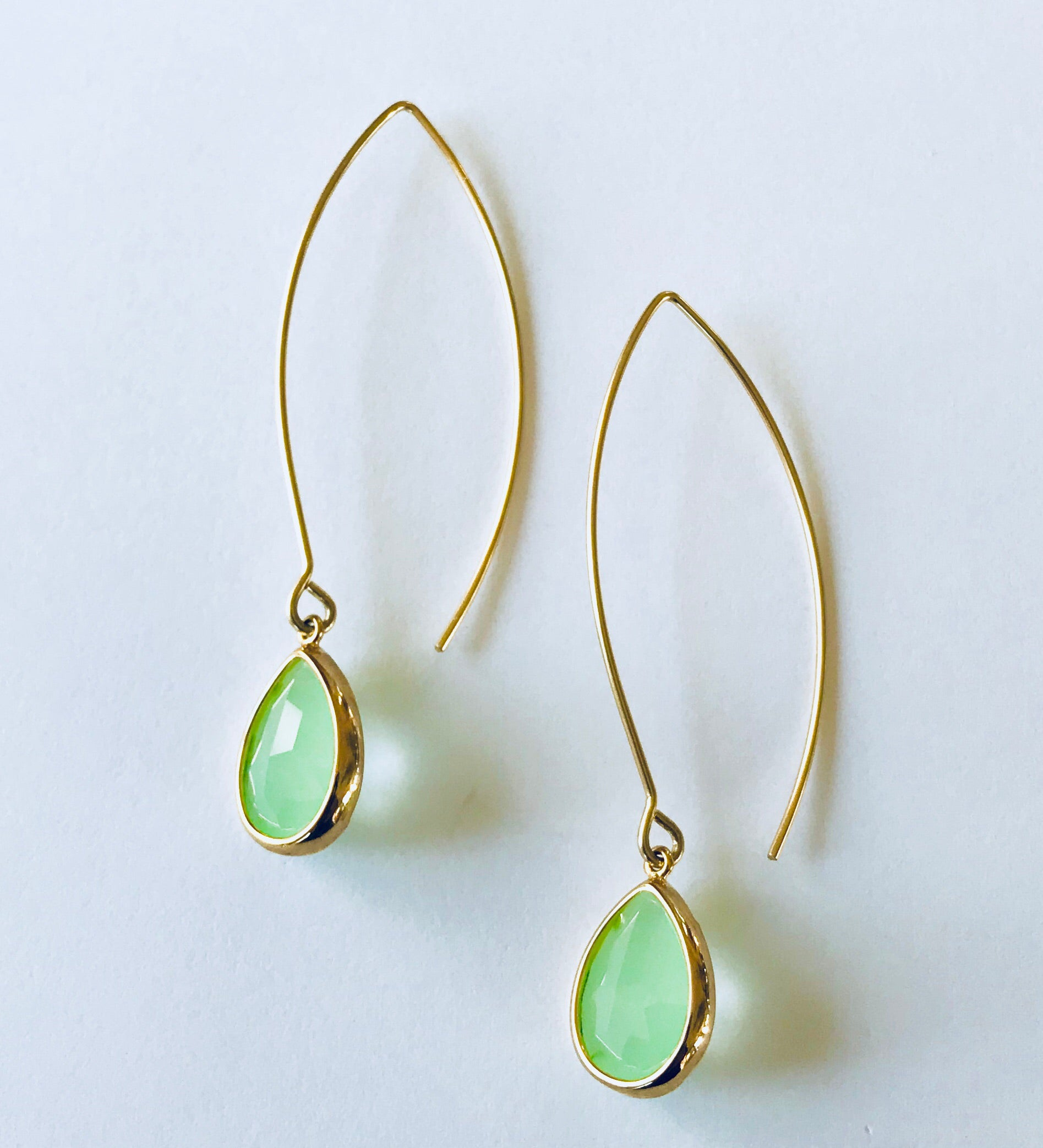 Mint Green Dangle Earrings