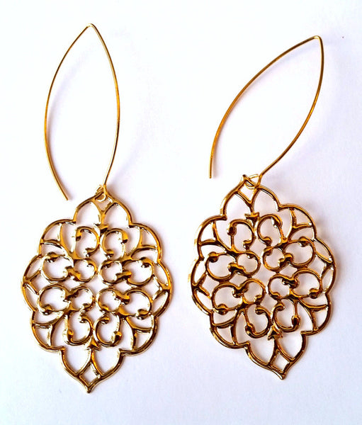 Gold Bohemian Dangle Earrings