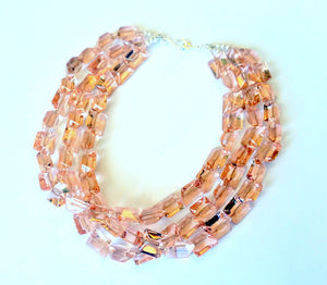 Pink Crystal Necklace