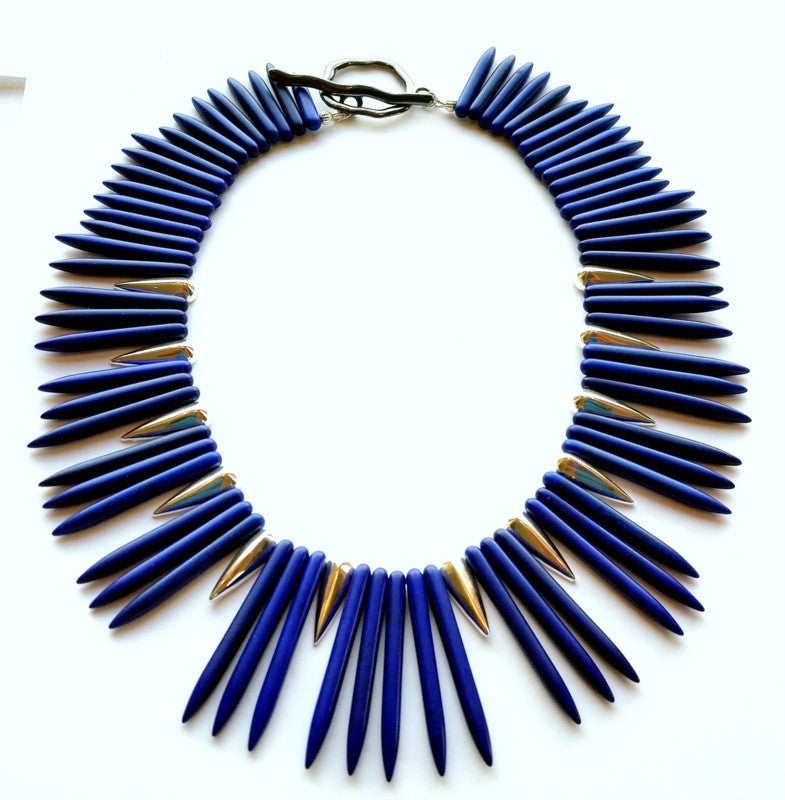 Lapis Spike Necklace
