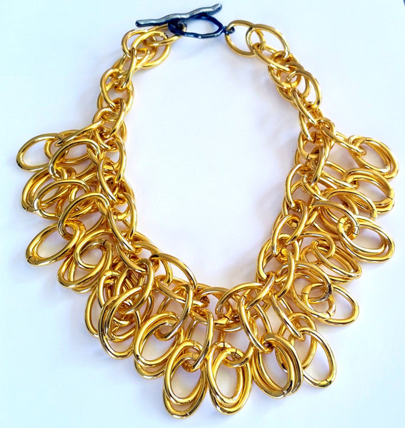 Gold Plated Modern Egyptian Collar
