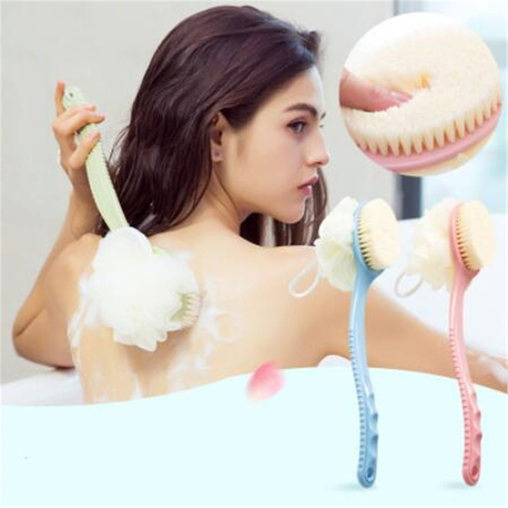 Long Handle Dry Skin Body Maasage Shower Brush - Livelit