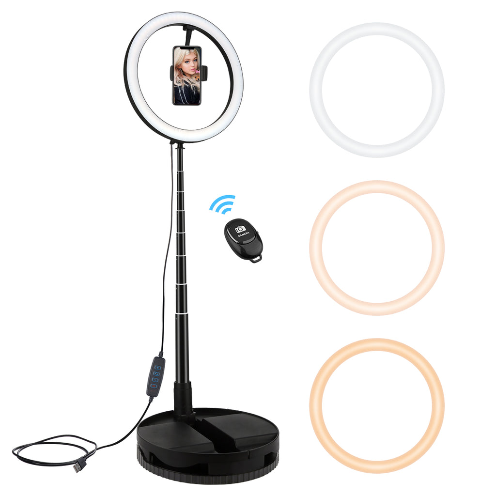 "10"" Foldable LED Ring Light - Livelit Ring Light"