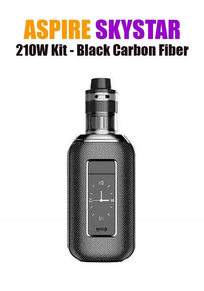 Aspire SkyStar Revvo Kit (210W 3.6ML 0.10/016ohm)-Hardware-Aspire Vape Co.-Black Carbon Fiber-eLiquid.com