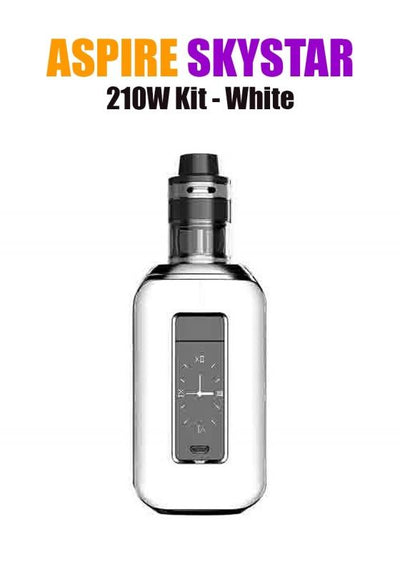 Aspire SkyStar Revvo Kit (210W 3.6ML 0.10/016ohm)-Hardware-Aspire Vape Co.-White-eLiquid.com