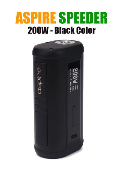 Aspire Speeder 200W Mod-Hardware-Aspire Vape Co.-Black-eLiquid.com