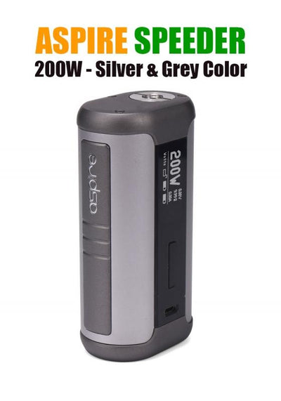 Aspire Speeder 200W Mod-Hardware-Aspire Vape Co.-Silver & Grey-eLiquid.com