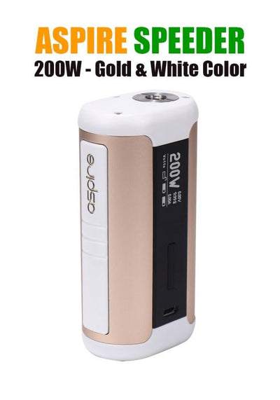 Aspire Speeder 200W Mod-Hardware-Aspire Vape Co.-Gold & White-eLiquid.com