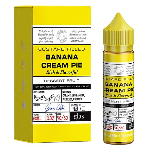 Banana Cream Pie by Basix Series by Glas E-Liquid