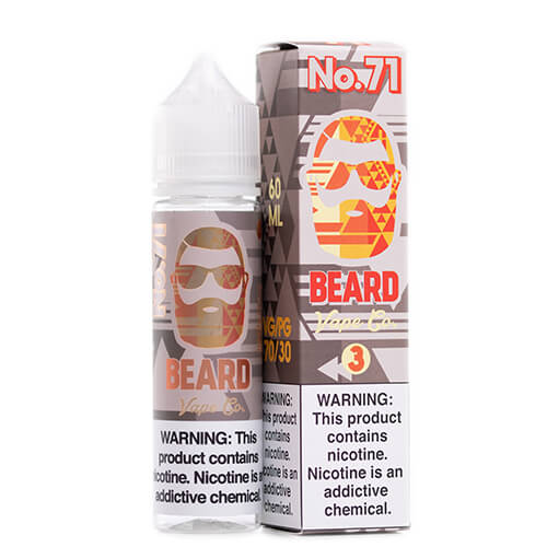 #71 Sweet and Sour Sugar Peach by Beard Vape Co. Vape Juice 0mg