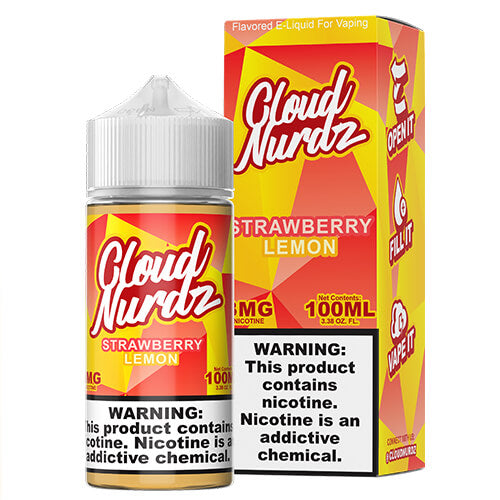 Strawberry Lemon by Cloud Nurdz eJuice Vape Juice 0mg