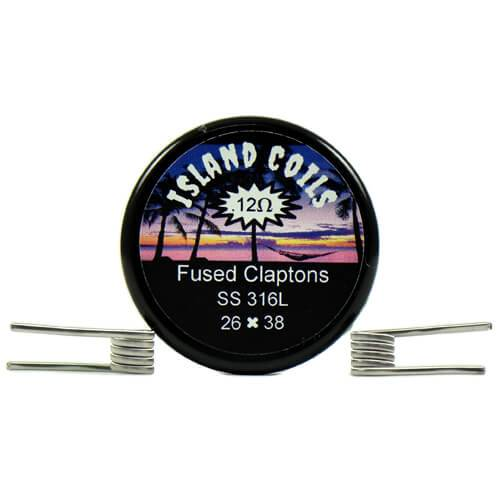 Island Coils by Island Vapezz - Fused Clapton - 0.12 ohm (2 Pack)