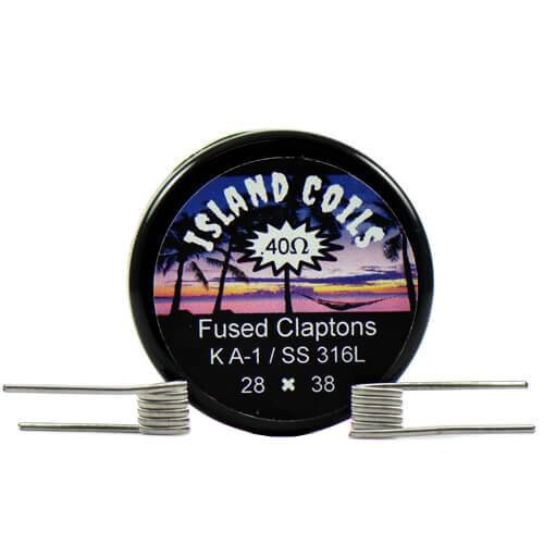 Island Coils by Island Vapezz - Fused Clapton - 0.4 ohm (2 Pack)