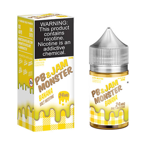 PB & Banana Jam by Jam Monster eJuice SALT
