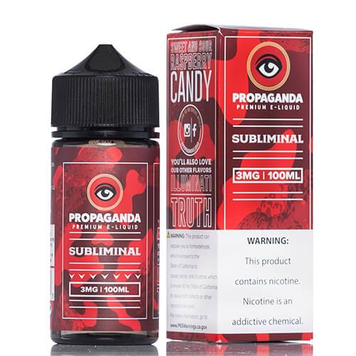 Subliminal by Propaganda E-Liquid Vape Juice 0mg