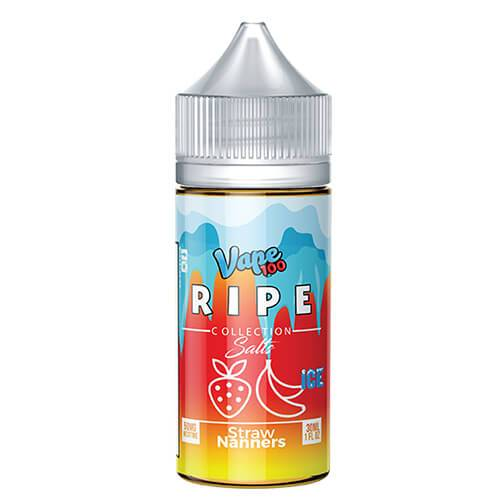 Straw Nanners on Ice by Ripe Collection on Ice by Vape 100 Nic Salts