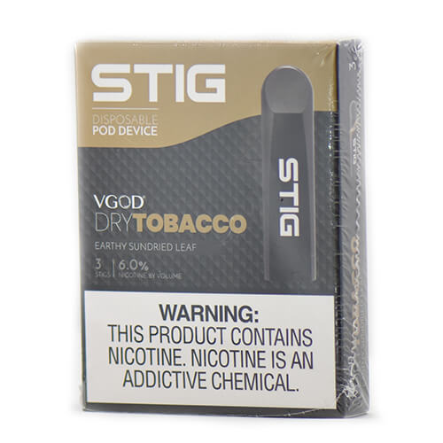 STIG - Ultra Portable and Disposable Vape Device - Dry Tobacco (3 Pack)