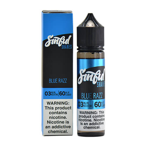 Blue Razz by Sinful Shakes E-Liquid