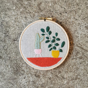 Open image in slideshow, Handmade Plant Embroideries