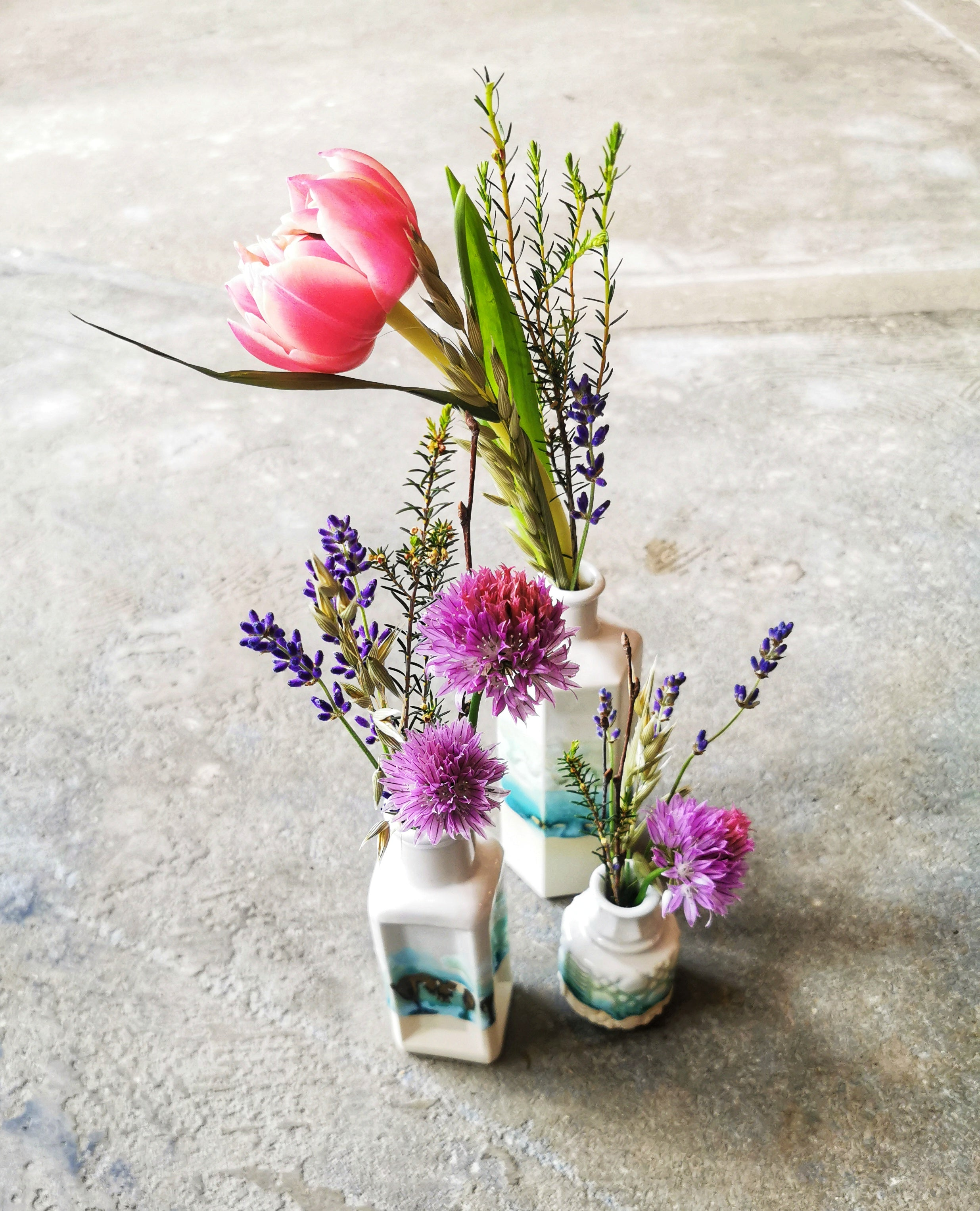 Ceramic Stem Vases by Helen Rebecca Ceramics