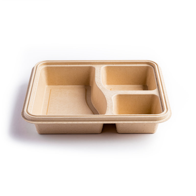 Premium 3-Compartment Meal Box with Lid