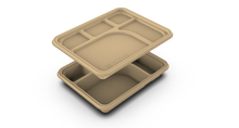 Load image into Gallery viewer, 5 Compartment Meal Tray