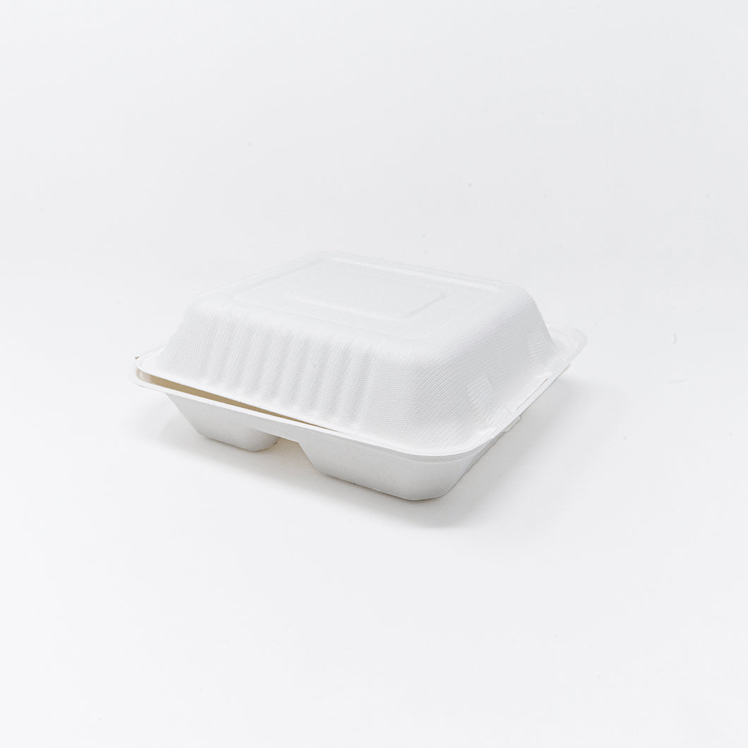 3-Compartment Takeout Container, 8-Inch