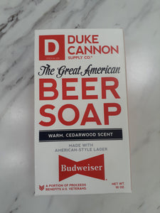 "Duke Cannon Beer Soap ""Budweiser"""