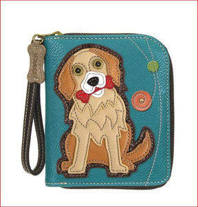 GOLDEN RETRIEVER - ZIP AROUND WALLET