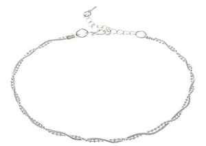 Silver Twisty Chain Anklet