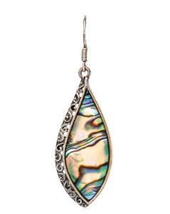 Silver Filigree Abalone Earring