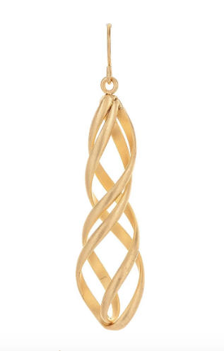 Gold Spiral Cage Earring