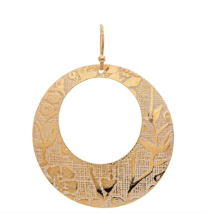 Gold Ivory Patterned Earring