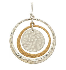 Two Tone Circles Earring