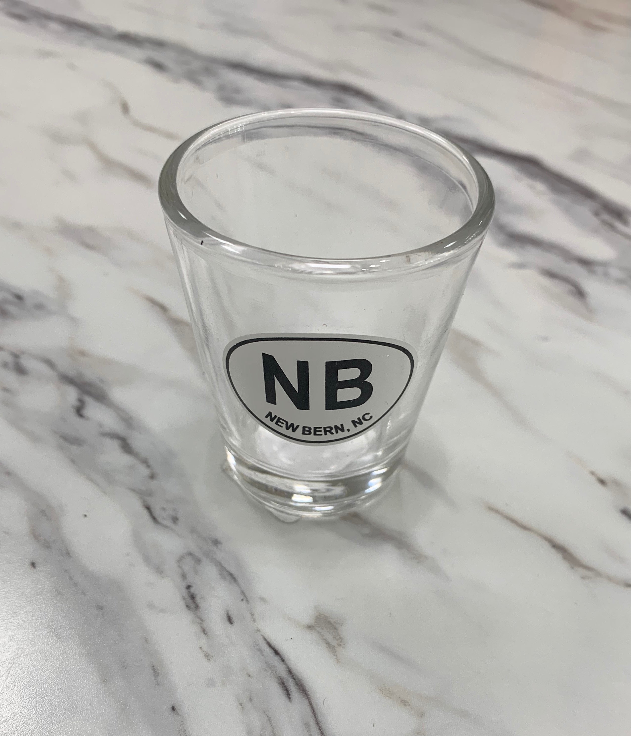 New Bern Clear Shot Glass