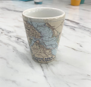 Ceramic Map Shot Glass
