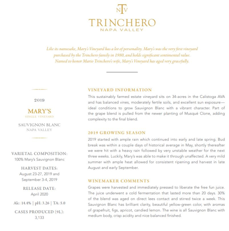 Your Place or Ours? TRINCHERO Part 2, November 7 Tasting with Zoom Link