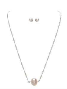 Silver Single Freshwater Pearl Dainty Necklace
