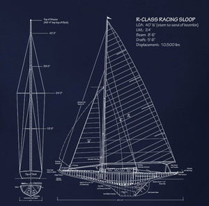 Blueprint Sailboat Plan Tee