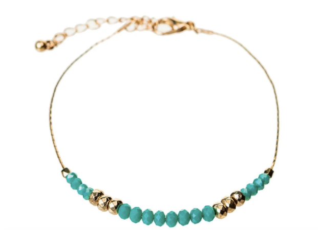 Gold Turquoise Anklet