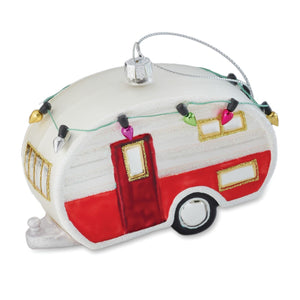 Glass Trailer Ornament