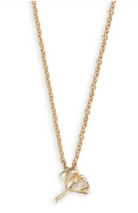 Simply Onward Gold Necklace with Gold Gingko Pendant