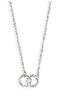 Simply Daughter Necklace with Interlocking Rings