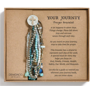 DemdacoTurquoise Your Journey Prayer Bracelet