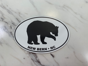New Bern Bear Oval Magnet