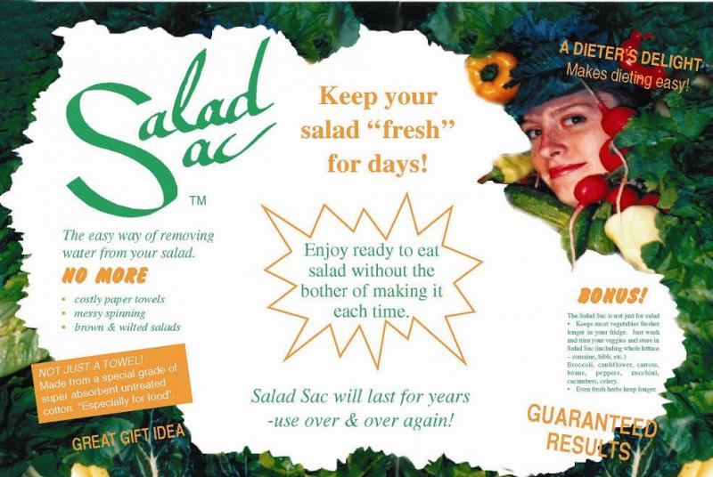 Salad Sac - Every household should have at least 2 or 3