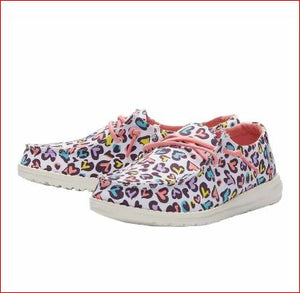 Wendy Youth Hey Dude White Leopard