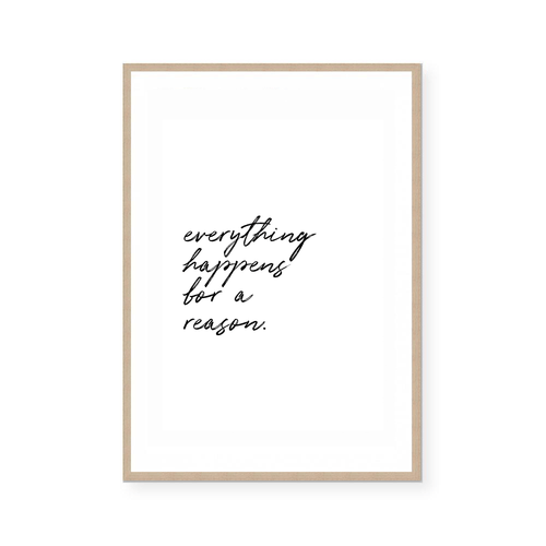1 - EVERYTHING HAPPENS FOR A REASON