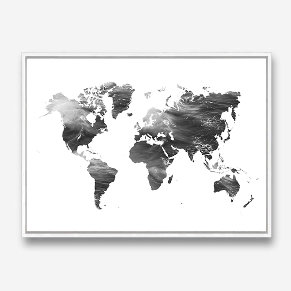 MAP OF THE WORLD CANVAS